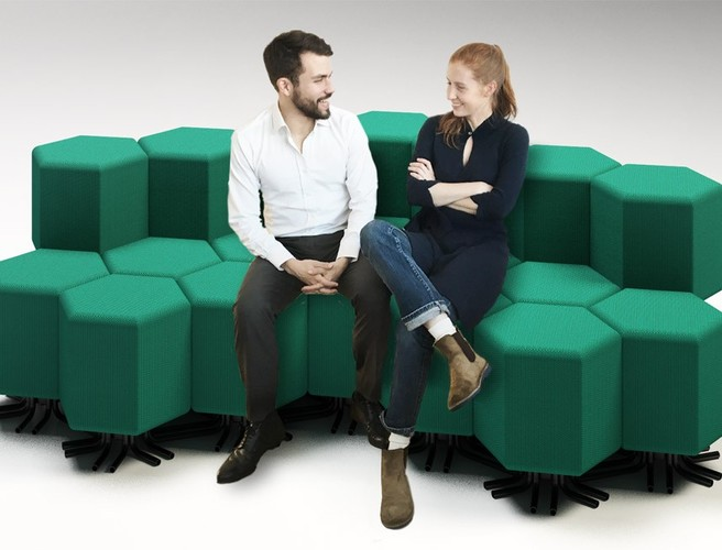 The first connected sofa can morph into any piece of furniture you need