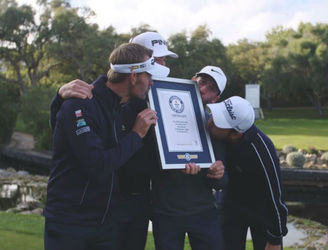Four French golfers earn World Record after completing a Par-5 hole in less than 40-seconds