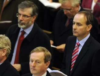 Gerry Adams says that Micheál Martin seems 'obsessed' with Sinn Féin