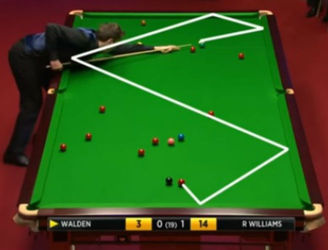 "WATCH: Snooker player pulls off incredible ""Superman"" shot at the Crucible"