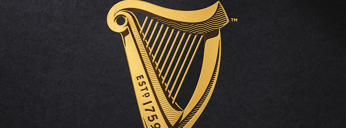 Guinness, new logo, harp, Ireland, Estd 1759, Design Bridge, St James's Gate