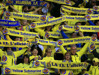 PICS: Villarreal fans unfurl Hillsborough banner in show of solidarity with Liverpool