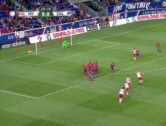 WATCH: MLS side perfect a free-kick routine on the way to a 4-0 win