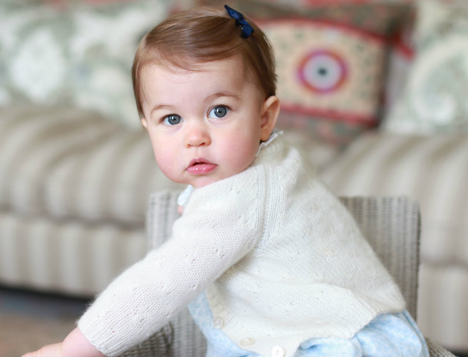 Photos released to mark Princess Charlotte's first birthday