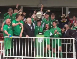 WATCH: Cork's Ballincollig AFC celebrate FAI Youth Cup glory