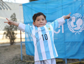 Young Messi superfan forced to leave Afghanistan, says father