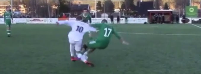 WATCH: This tackle in the Norwegian fifth tier is among the worst we've ever seen