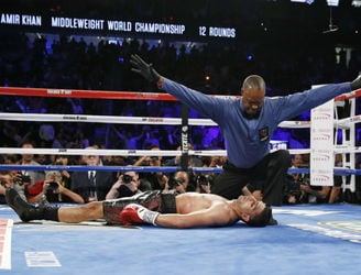 WATCH: Thunderous knockout ends Amir Khan's title hopes