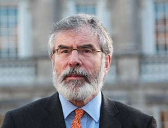 "Gerry Adams says Sinn Féin is ""not ruling out co-operating with any party"""