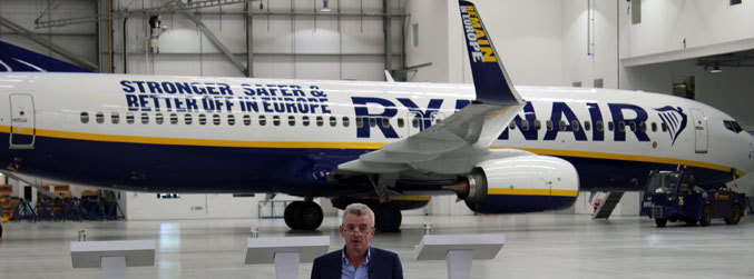 Ryanair, Brexit, planes, Michael O'Leary, George Osborne, London