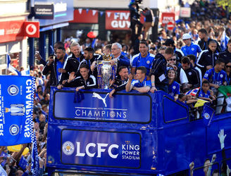 In Pictures: Leicester's heroes get the open top bus parade treatment