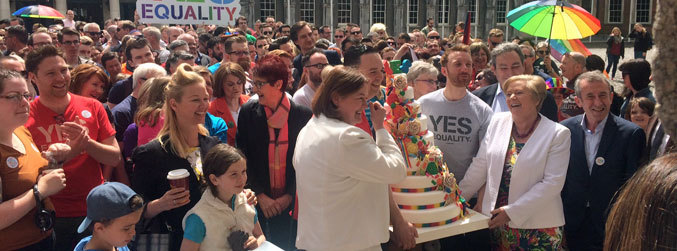 Hundreds gather in Dublin to mark #MarRef anniversary