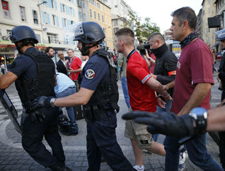 Two England fans jailed amid crowd violence