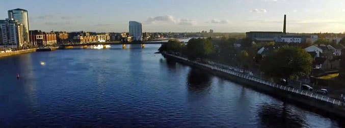 Limerick, drone, footage, Limerick City in Motion, project, Pavol Hlavac