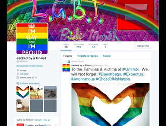 Anonymous hacker takes over hundreds of IS Twitter accounts, fills them with gay pride