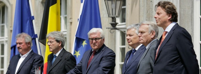 Founding European Union states meet to discuss Brexit fallout