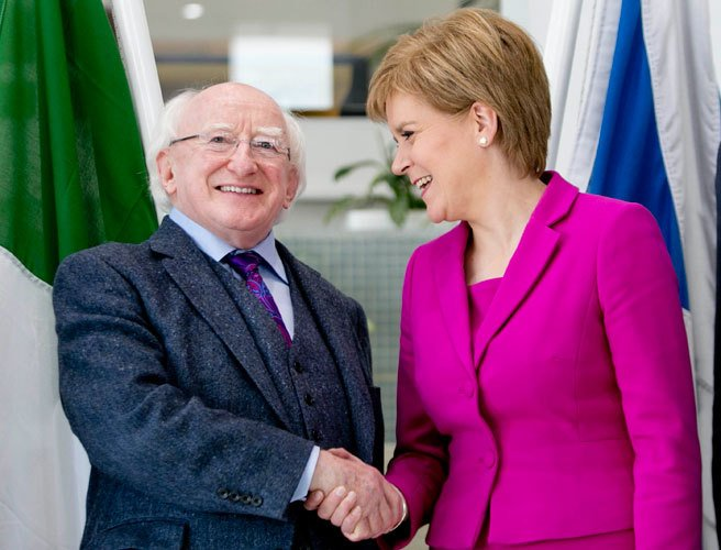 Michael D Higgins, Scotland, visit, Nicola Sturgeon, Scottish Parliament, Brexit,