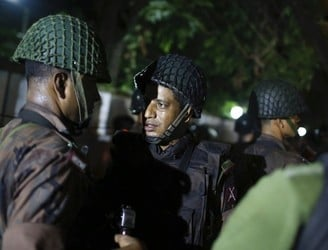 Two police officers killed in a hostage situation in Bangladesh