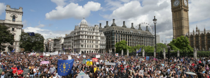 london, brexit, thousands, people, demonstration