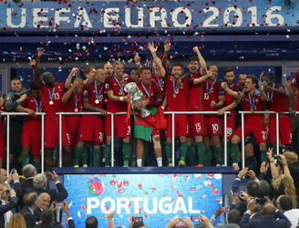 Portugal's players celebrate historic Euro 2016 triumph