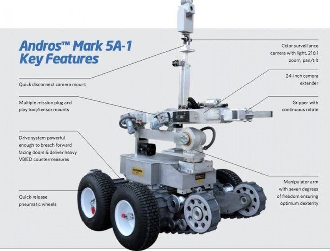 Meet Andros Mark V-A1: The killer robot used by Dallas police