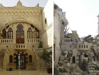 Take a look at Syria before and after the bombs started falling