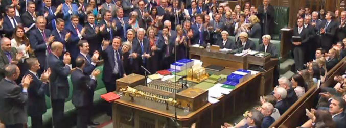 David Cameron, Prime Minister's Questions, House of Commons, final session, Theresa May, Larry, Downing Street cat