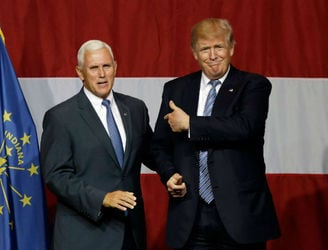 Pence towing the same line as Trump on immigration