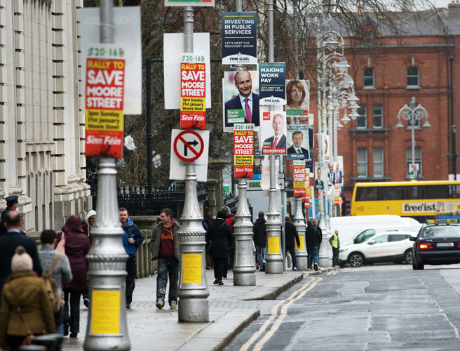 Dublin, City Council, election posters, vote, Fine Gael, Paddy Smith, cost