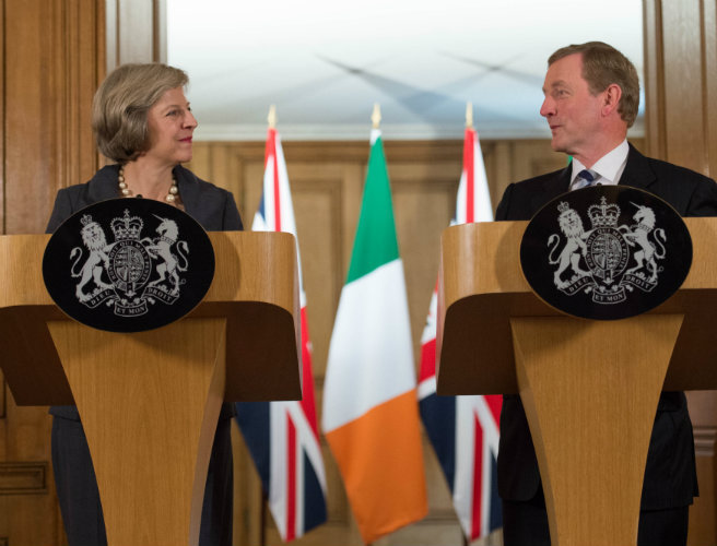 'Strong will on both sides' to preserve common travel area between Ireland and UK - Theresa May