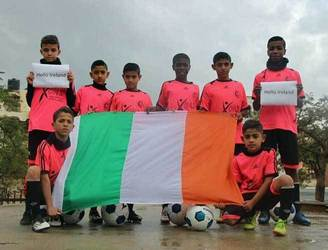 WATCH: Gaza children leave Ireland after 10 days of football