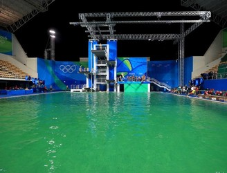 The diving pool at the Olympics has turned green, and nobody knows why