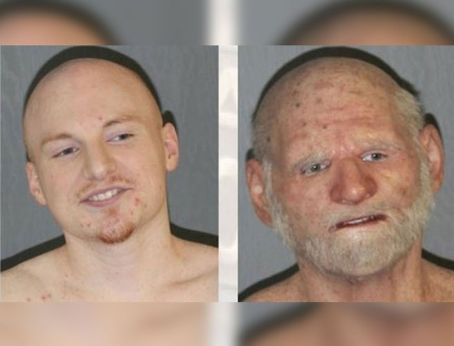 'Elderly man' discovered to be 31-year-old fugitive in disguise