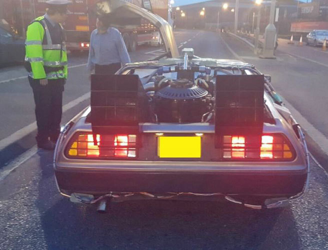 Great Scott! Gardaí stop a DeLorean and the puns reach 88mph