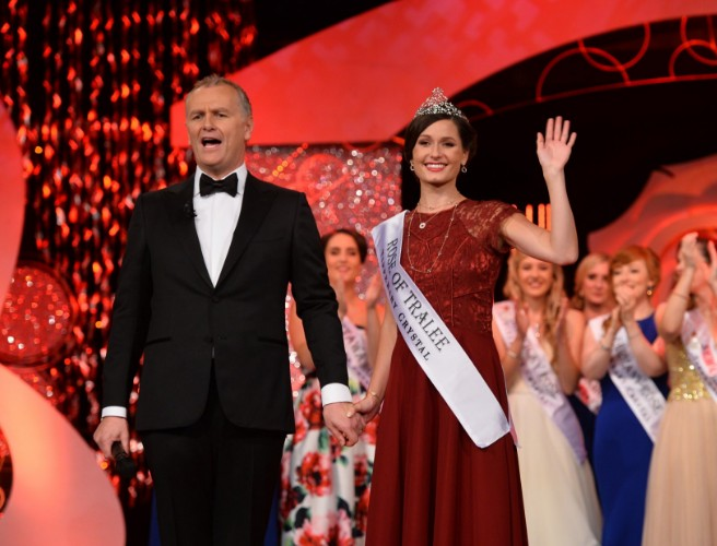 Protestor storms Rose of Tralee contest stage