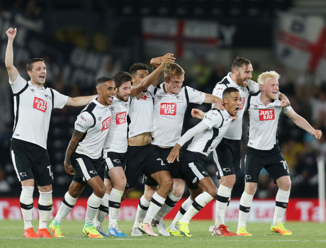 Derby County win the joint-longest penalty shootout in the history of English football