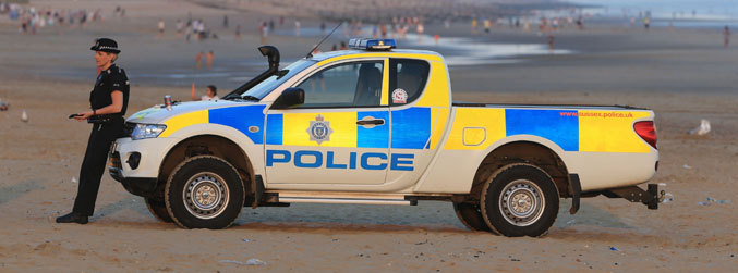 Five bodies are recovered at a beach in England