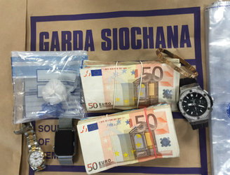Two people arrested and items seized by gardaí following search operation in Dublin