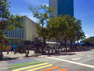 WATCH: Rainbow pedestrian crossing unveiled at the United Nations