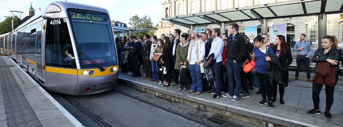 Number of public order incidents on Luas trams drop