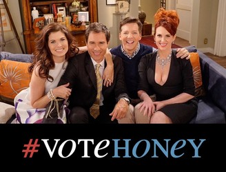 WATCH: The cast of 'Will & Grace' reunites for their own presidential debate