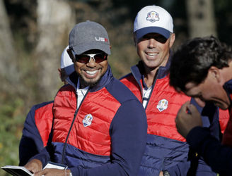 WATCH: Tiger Woods sees the funny side as he forgets his role in the Ryder Cup team photo