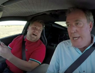 Jeremy Clarkson is a star in a presumably reasonably priced 'Carpool Karaoke'