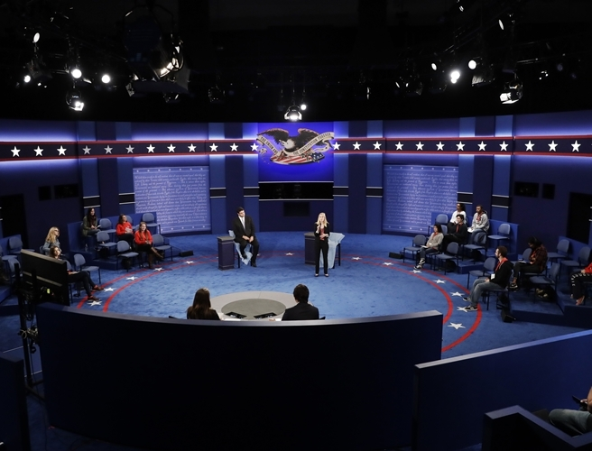 Washington, debate, Clinton Trump