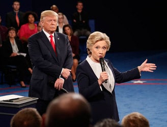 Trump fends off sexism claims in second Clinton debate