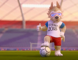 Russia 2018 unveil a wolf called Zabivaka as the World Cup mascot
