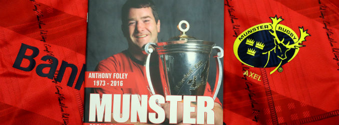 Munster to reprint Anthony Foley programmes from Glasgow match