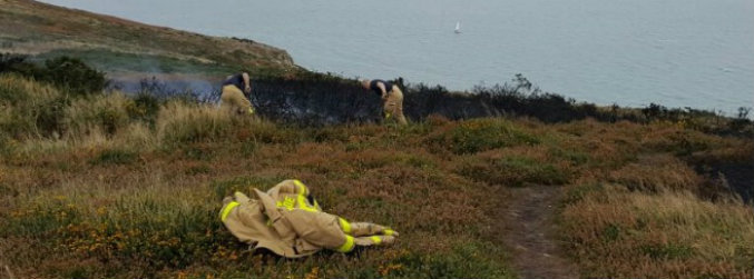 Dublin Fire Brigade urges people to be careful following gorse fires in Howth