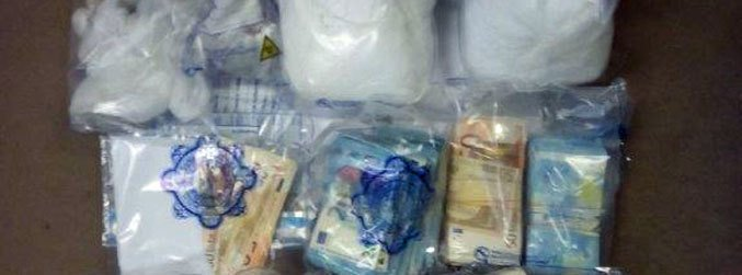 Man detained after drugs and cash seized in south Dublin