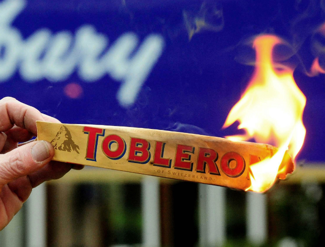 Toblerone's new look causes outrage among chocolate fans